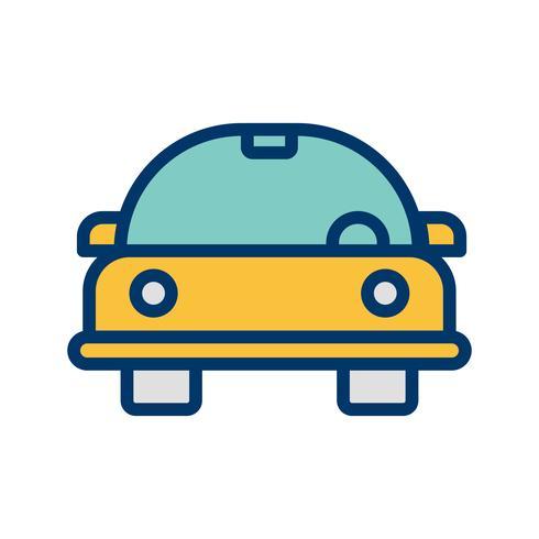 Icona di vettore di auto dei cartoni animati