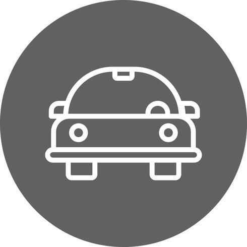Icono de Vector de coche de dibujos animados
