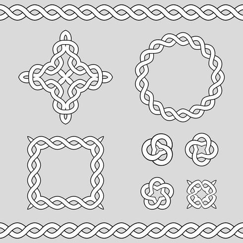 Elementos de diseño ornamental celta. vector