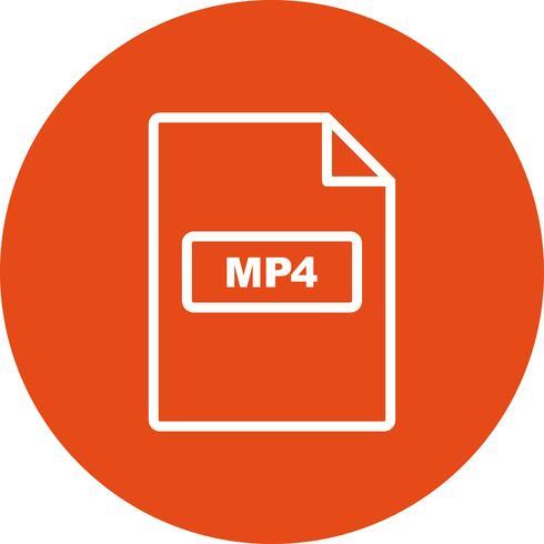 mp4 vektorikonen vektor
