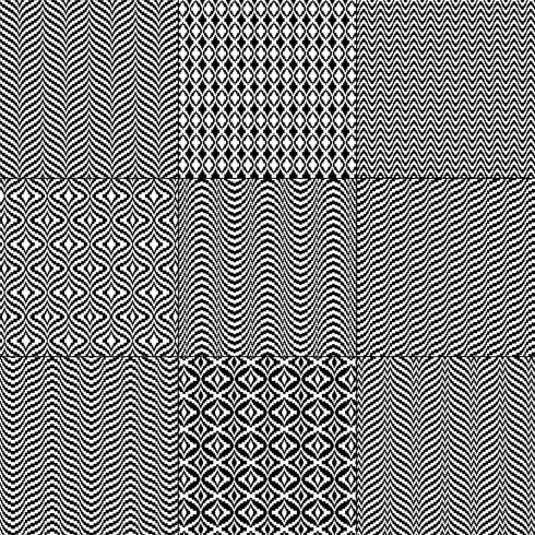 zwart witte mod bargello geometrische patronen