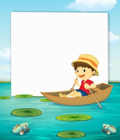 Boy on boat banner