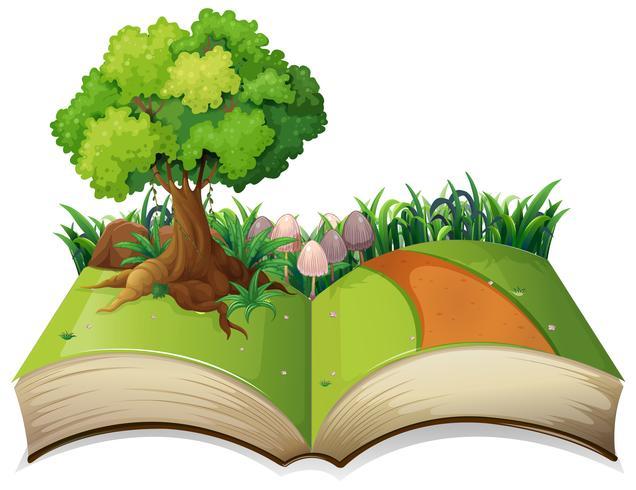 Offenes Buch Naturlandschaft