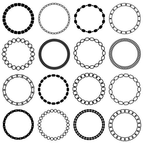 mod cornici a cerchio catena nera vettore