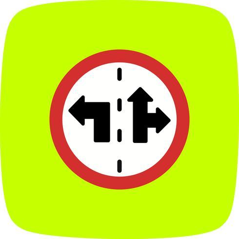 Vector icono de signo de control de carril