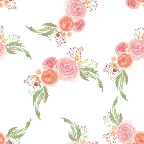 Aquarell-Artweinlesegewebe des nahtlosen Musters üppiges, Blumenaquarell lokalisiert auf weißem Hintergrund. Entwerfen Sie Blumendekor für Karte, sparen Sie das Datum, Hochzeitseinladungskarten, Plakat, Fahnendesign.
