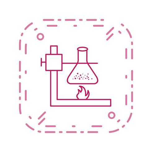 Icono de Vector de fuego bajo matraz