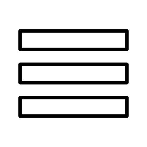 icône de vecteur de menu