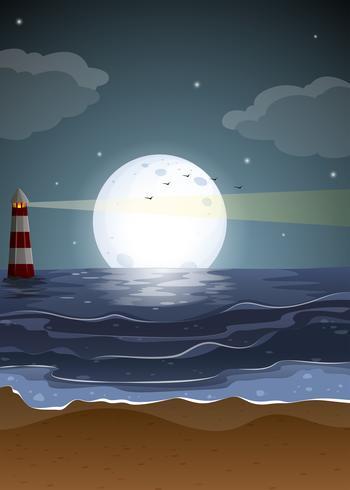 Vollmond und Strand