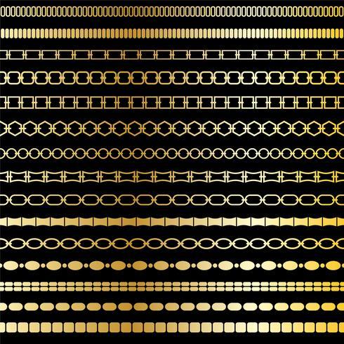 patrones de borde de la cadena de oro mod