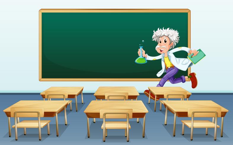 Scientist in classroom
