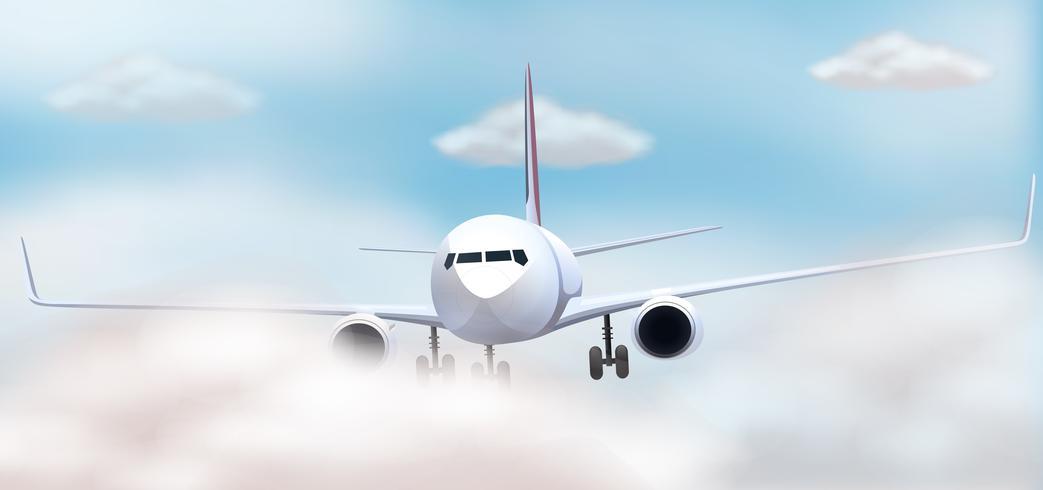 Vliegtuig die in de hemel vliegen
