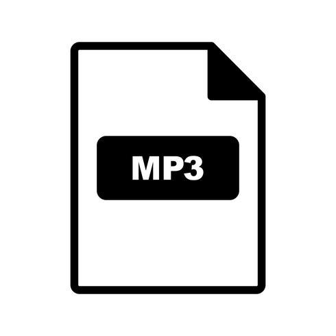 Icono de vector de mp3
