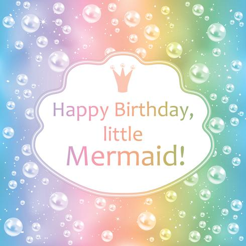 Birthday Card For Little Girl Blurred Background Pearls