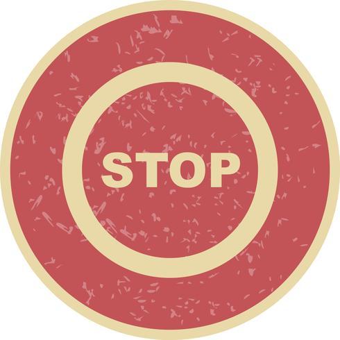 Icône Vector Stop