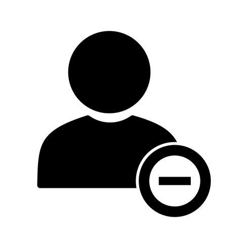 Benutzer-Vektor-Symbol blockieren