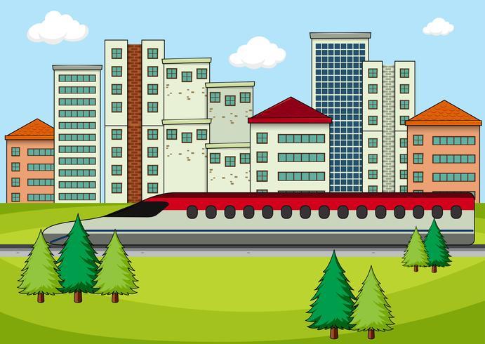 Transporte en ciudad moderna vector