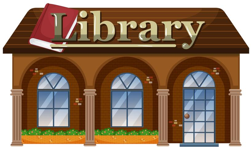 Extérieur d'une bibliothèque vecteur