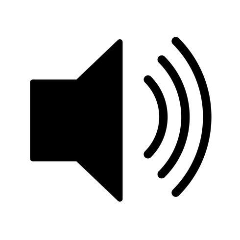 Icona di vettore del volume elevato