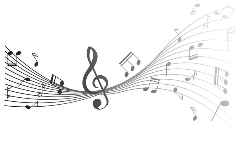 Design de fond avec des notes de musique
