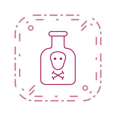 Icona di vettore di prodotti chimici