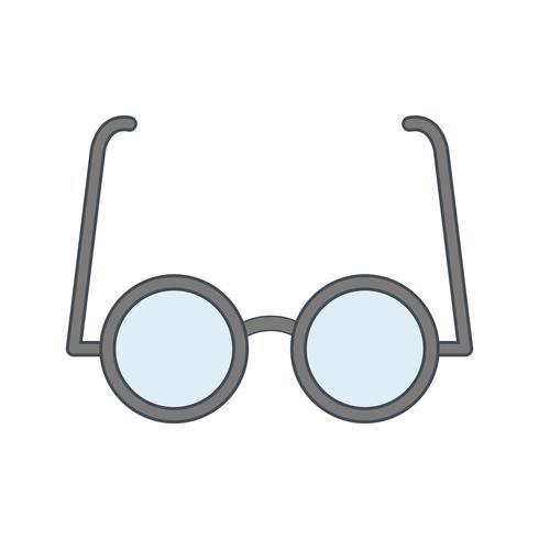 Icône de vecteur de lunettes expérimentales