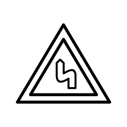 Vector Double bend to the left Icon