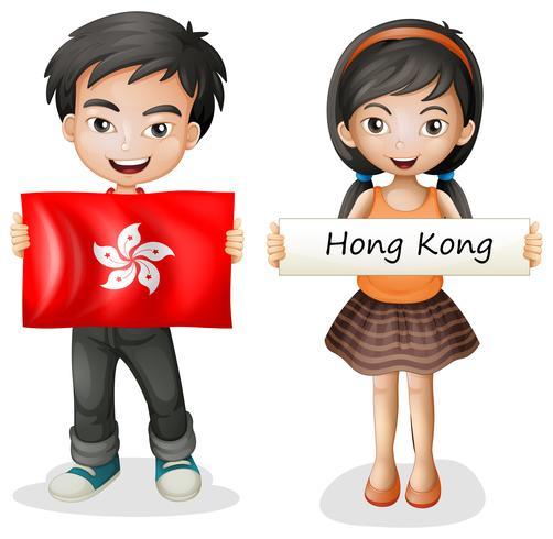 Un niño y una niña de Hong Kong