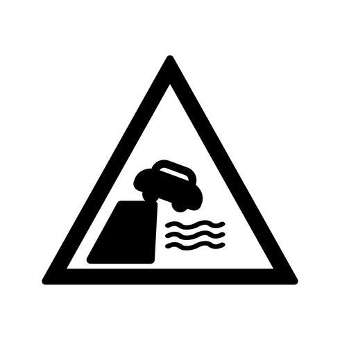 La strada di vettore conduce all'icona della banca del fiume o della banchina