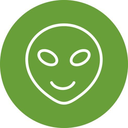 alien emoji vektorikonen