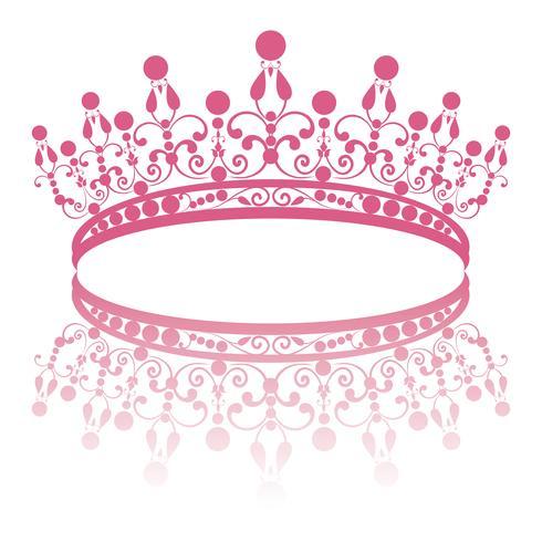 diadem. elegance feminine tiara with reflection vector