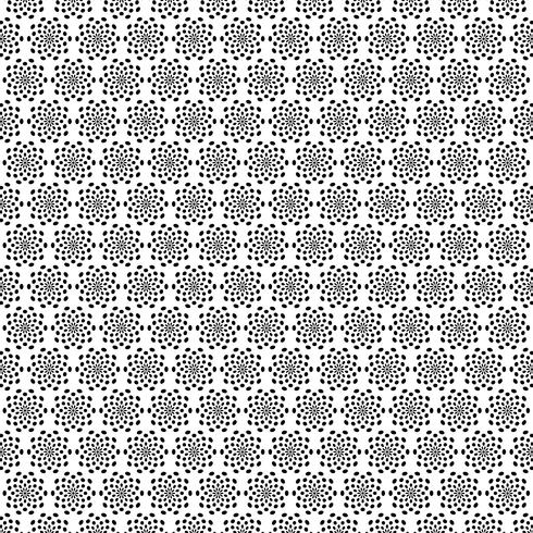 black white abstract starburst pattern vector