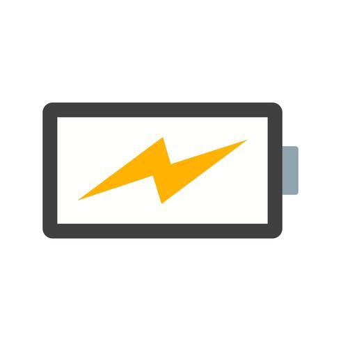 Icono de Vector de batería de carga