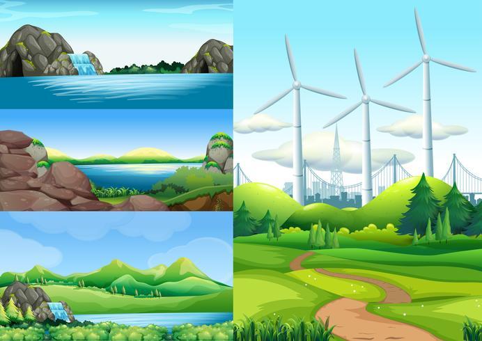 Scènes met land en water