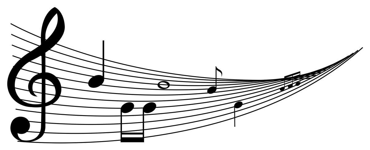 Hintergrund mit schwarzen Musikanmerkungen vektor