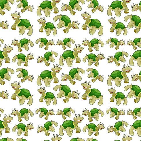 Modelo inconsútil de la tortuga verde vector