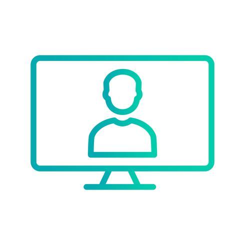Icona di vettore di lavoro online