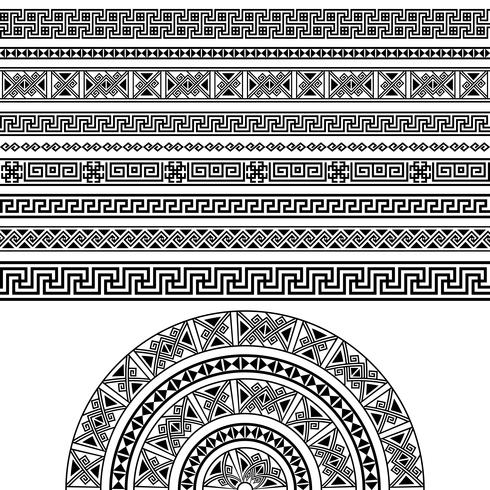 Conjunto de diseño étnico.