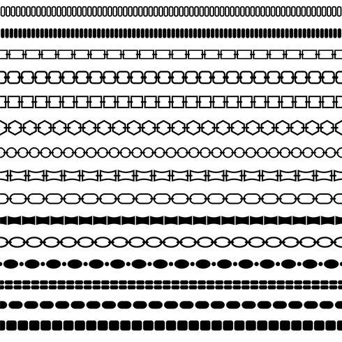 mod patrones de borde de cadena negro vector
