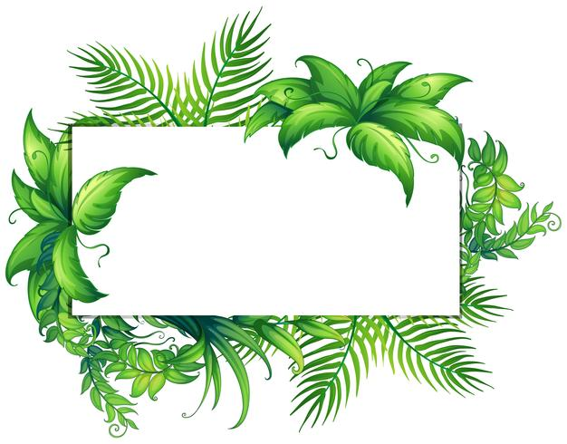 Gränsmall med gröna blad
