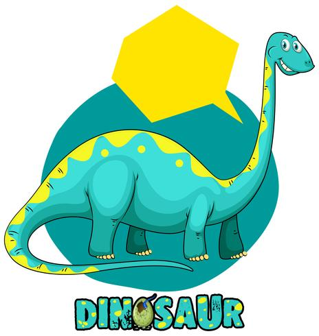 Stickersjabloon met dinosaurusbrachiosaurus