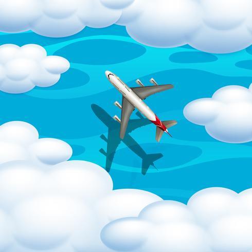 Un aereo dalla vista aerea vettore