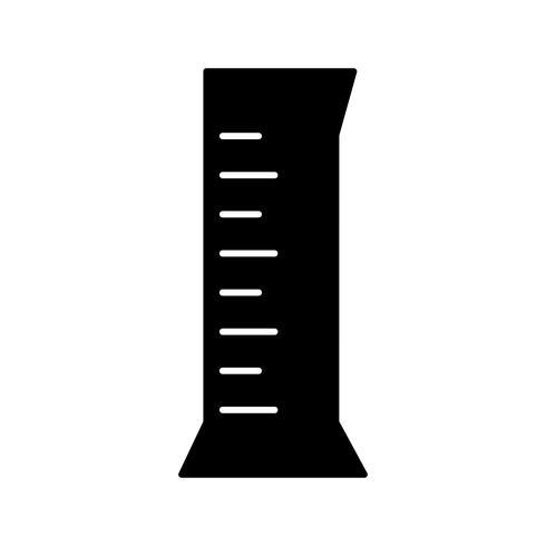 Icona di vettore di cilindro cilindrico