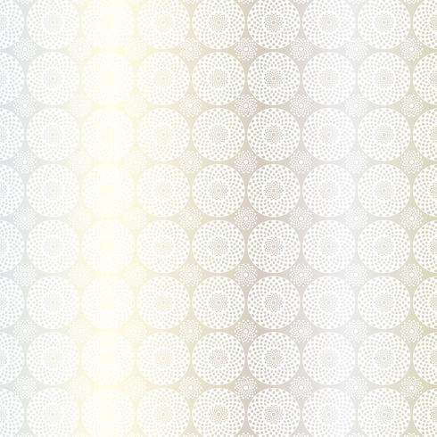 zilver wit cirkel medaillon patroon vector