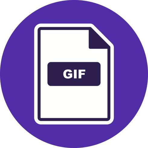 Icône de vecteur GIF