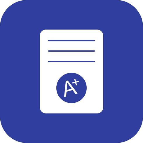 A + Grade Vector Icon