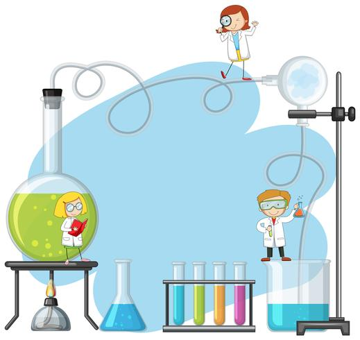 Doodle  Scientist in the Lab vector