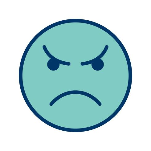 Angry Emoticon Vector Icon