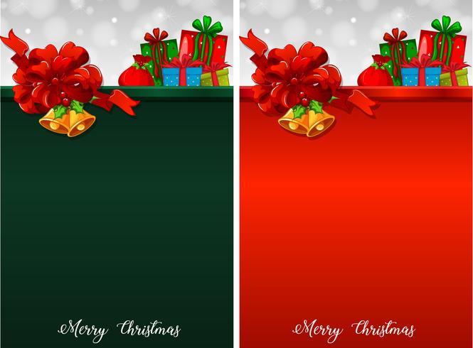 Två bakgrund med julklappar