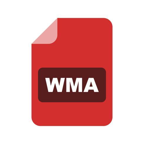 icono de vector wma